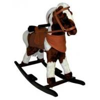 Buy cheap Kid's Plush Pinto Rocking Horse on Wood Base - 3 Years & Older from wholesalers