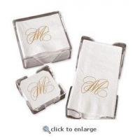 Buy cheap Gold Initials Guest Custom Napkins, Coasters from wholesalers