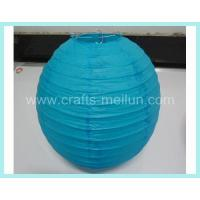 Buy cheap Blue decorative round paper lantern from wholesalers