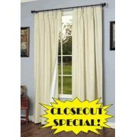 Buy cheap CLOSEOUT SPECIAL! Weathermate Solid Color Pinch Pleat Insulated Curtains from wholesalers