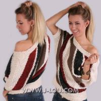 Buy cheap K522 Sexy Ladies Batwing Stripey Urban Casual Sweater Jumper from wholesalers