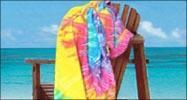 Buy cheap EMBROIDERED 30x60 Terry Velour tie dye beach towels,11.5 lbs per dz from wholesalers