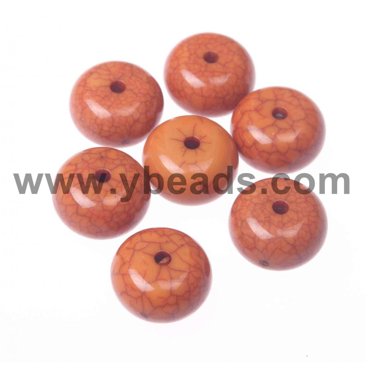 Buy cheap 100pcs Coppery Acrylic Beads 15*8mm from wholesalers
