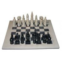 Buy cheap Soapstone Homeware & Gifts natural black chess set (large) (SS139) from wholesalers