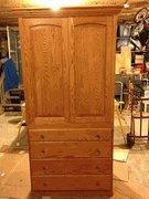Buy cheap CUSTOM PIECES AND PROJECTS Oak Armoire Entertainment Center and Dresser from wholesalers