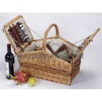 Buy cheap Willow lidded picnic baskets PB1023-TLB from wholesalers