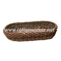 Buy cheap willow wicker two tone bread baskets, wicker cheese trays, bread trays from wholesalers