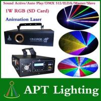 Buy cheap SD Card 1W RGB laser stage lighting from wholesalers