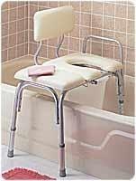 Buy cheap Bathroom Safety Aids VINYL PADDED BATHTUB TRANSFER BENCH W/CUT OUT,PAIL from wholesalers