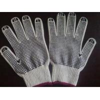 Buy cheap natural white cotton glove with pvc dotts from wholesalers