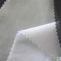 Buy cheap 100% Polyester Tricot Knitted Fusible Interlining, Available in White and Black, for Suits and Coats from wholesalers