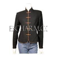 Buy cheap Chinese Wedding Dress Frog Buttons Wool Jacket from wholesalers