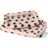 China Cute Pink Pet Bed with Paw Prints on sale