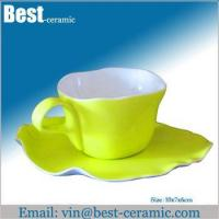 Ceramic cup&saucer ceramic breakfast cup and saucer