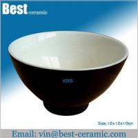 Buy cheap Ceramic bowl black ceramic bowl product