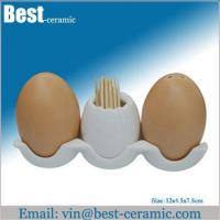Buy cheap Ceramic salt&pepper shaker egg ceramic spice shaker set product