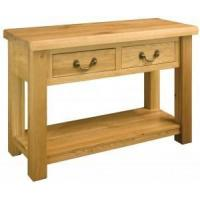 Buy cheap Oak Furniture Suffolk 2 Drawer Hall Table from wholesalers
