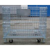 Buy cheap Collapsible wire mesh container Collapsible Wire Mesh container with wheels from wholesalers