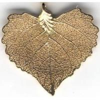 Buy cheap Golden Leaf Pendant 2x2 inches from wholesalers