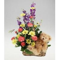 Buy cheap Novelty Arrangements Flowers with plush bear from wholesalers