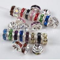 Buy cheap JF2007 Crystal Rhinestone Rondelle Spacer Beads from wholesalers