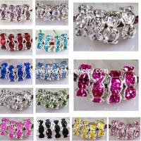Buy cheap JF2008 Rhinestone Rondelle Spacer Beads from wholesalers
