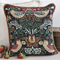 China Cross Stitch & Tapestry Strawberry Thief tapestry cushion kit, 40cm on sale