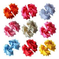 Buy cheap BIG LOT WHOLESALE Home WHOLESALE-4.5 Solid Stacked Solid Grosgrain Spike Bow-60pcs from wholesalers