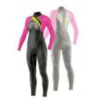 Buy cheap Women Waterproof Glued & Blind Stitching Neoprene / Wetsuits 4 / 3 mm with Mesh Skin from wholesalers