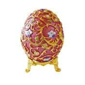 Buy cheap Gold Flowered Pink Faberge Style Egg Box from wholesalers