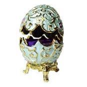 Buy cheap Gold Flowered Blue Faberge Style Egg Box from wholesalers