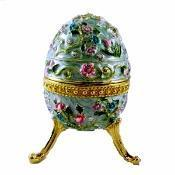 Buy cheap Large Flowered Blue Faberge Egg Box from wholesalers