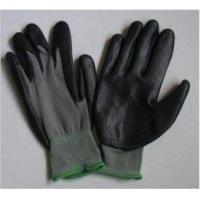 Buy cheap Foam Finished Breathed Black Nitrile Work Gloves with Grey Nylon Liner from wholesalers