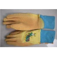 Buy cheap Yellow Waterproof Rubber Kids Gardening Gloves With Latex Coated For Children from wholesalers