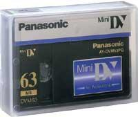 Buy cheap Panasonic Mini DV 63/42 Minute Professional Quality Mini-DV Digital Tape (AY-DVM63PQ) from wholesalers
