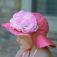 Buy cheap swimwear Hot Pink Sun Hat with Vintage Pink Rose from wholesalers