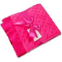 Buy cheap Kitteroo Hot Pink Minky Dot/Hot Pink Satin Receiving Blanket from wholesalers