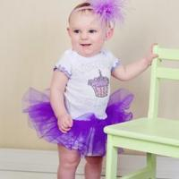 Buy cheap Special Tee Designs Purple Cupcake Tutu Dress from wholesalers