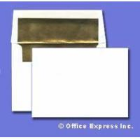 Buy cheap A2 Invitation Envelope - Gold Foil Lined - 24# White Size: (4 3/8 x 5 3/4) - Announcement Series from wholesalers