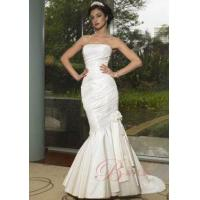 Buy cheap Mermaid Wedding Gown Mermaid Strapless Taffeta Applique Handbeading Lace Up wyn-w72 from wholesalers