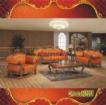 Buy cheap Hand craft carved Italy genuineleather sofaES003 from wholesalers