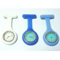 Buy cheap Nurse Fob Watch Diamond Silicone Nurse Fob Watch With Changeable Battery / A Metal Brooch Pin from wholesalers