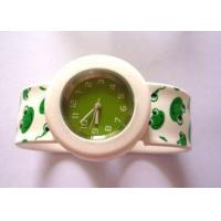 Buy cheap 3ATM Green Frog Kids Slap Silicone wristband Watches with Precise Quartz Movement from wholesalers