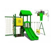 Buy cheap Childrens Commercial Plastic Steel Playground Swing Sets Kit for Amusement Park from wholesalers