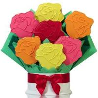 Buy cheap Rainbow Roses Cookie Flower Bouquet from wholesalers