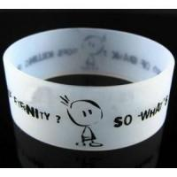 Buy cheap Screen-Printed silicone wristband from wholesalers
