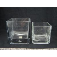Buy cheap Square glass vase,Glass fish bowl,Glass candle Jar from wholesalers