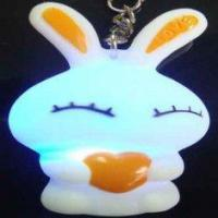 Buy cheap Custom PVC material LED flashing keychain with cell button battery for promotion and gift from wholesalers
