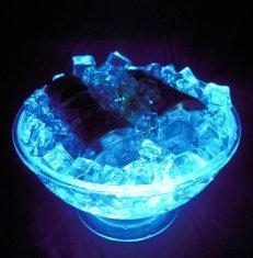 Buy cheap GPPS + ABS rechargeable clear led ice bucket D31.5 * D17.0 * H18.0CM for beer, bar, party from wholesalers
