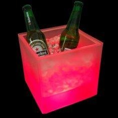 Buy cheap Rechargeable bar square LED Ice Bucket (color changing led light, led lamp) for party from wholesalers